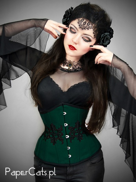 Underbust Green Arabesque